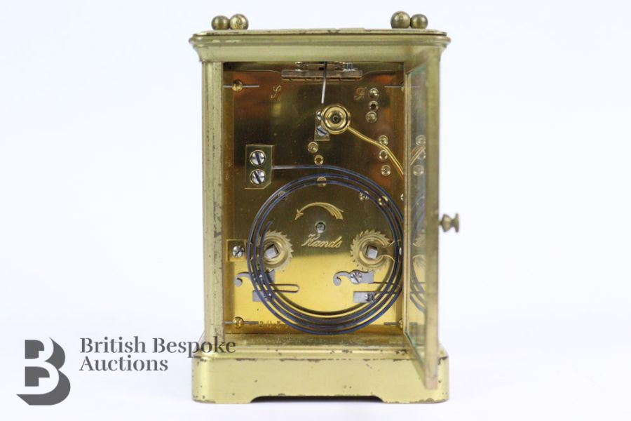 French Brass Carriage Clock - Image 4 of 5