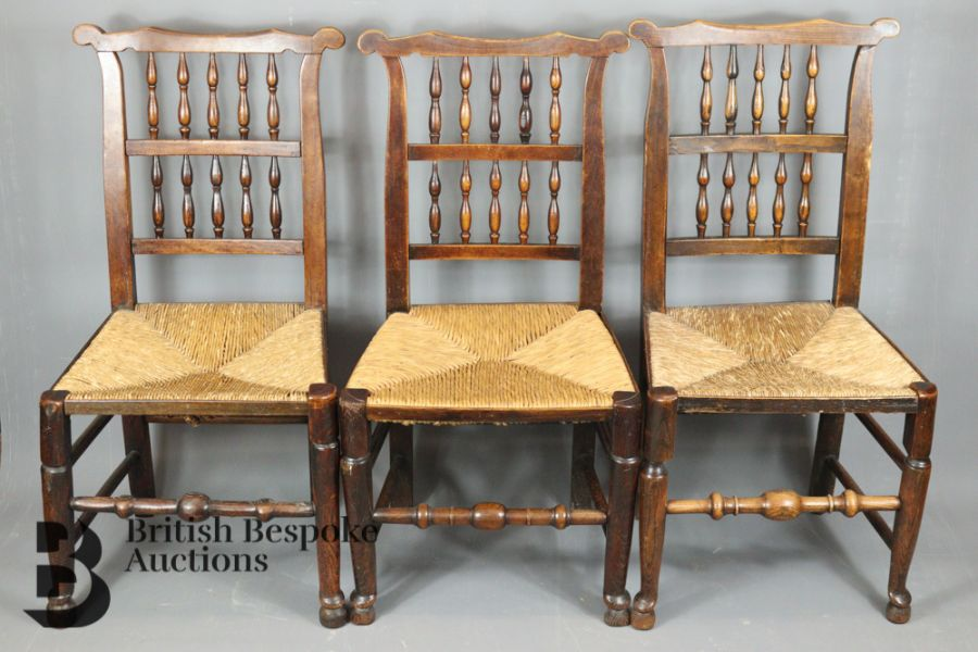 18th Century Lancashire Spindle Back Dining Chairs - Image 3 of 5