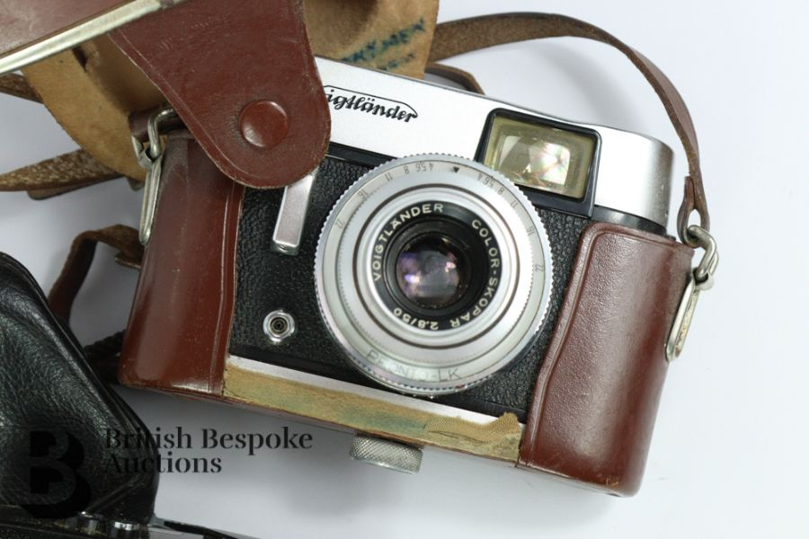 Rollei 35 Compact Film Camera and Voigtlander Camera - Image 3 of 3