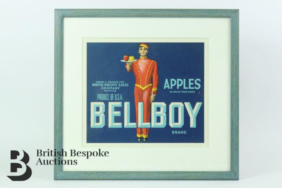 Nine Framed Vintage Fruit Crate Labels - Image 6 of 7