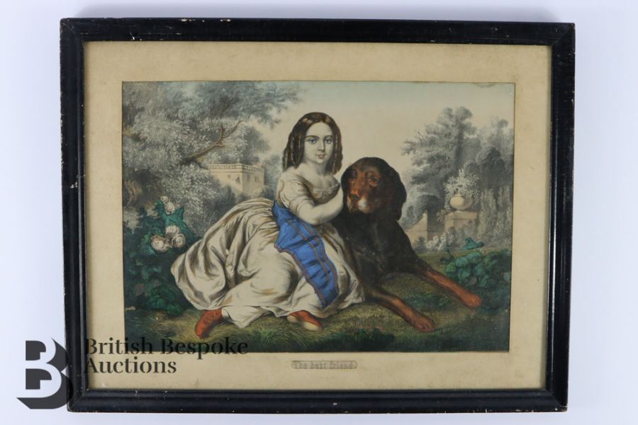 Victorian Hand Coloured Engraving