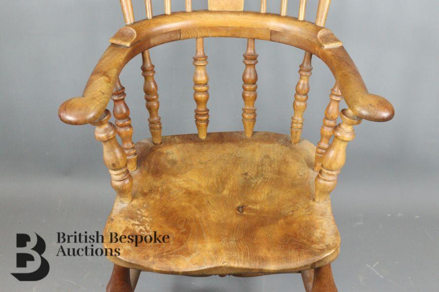 Pine Slat-back Kitchen Chair - Image 4 of 4