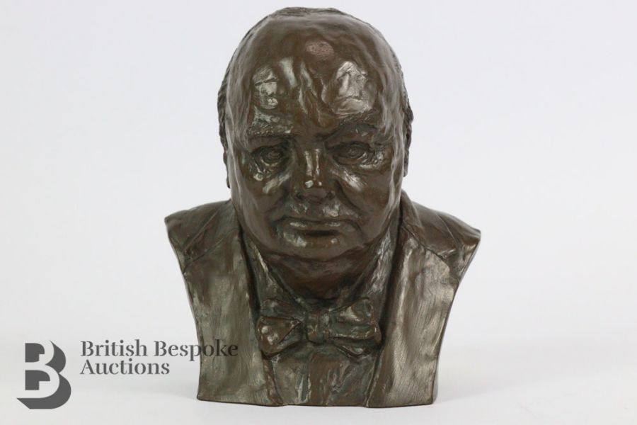 Marcus Designs - Composite Bust of Winston Churchill - Image 3 of 4