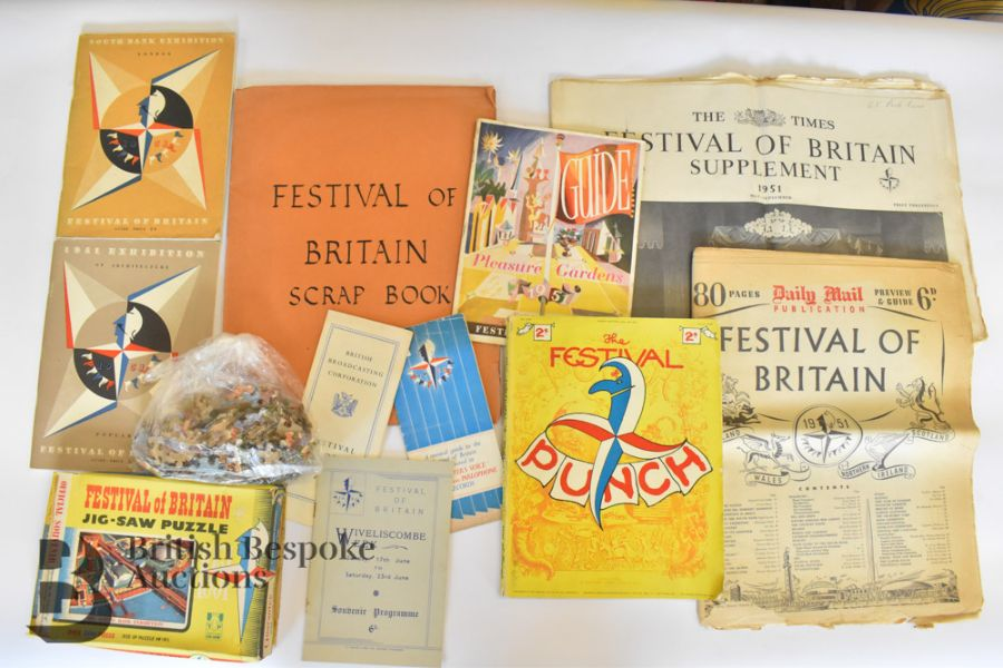 Quantity of Ephemera Relating to The Festival of Britain 1951