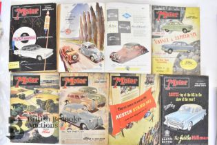 Approx. 40 Motoring Magazines 1950s-70s London Motor Show Previews