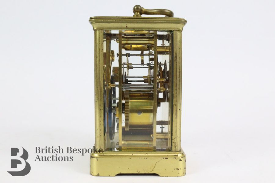 French Brass Carriage Clock - Image 3 of 5