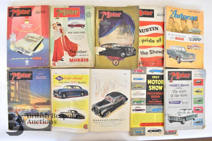Approx. 40 Motoring Magazines 1950s-70s London Motor Show Previews - Image 3 of 10