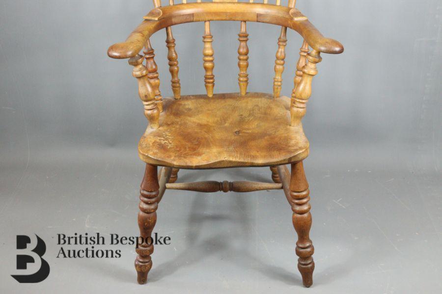 Pine Slat-back Kitchen Chair - Image 3 of 4
