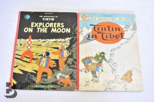 2 Vintage Tintin British Editions