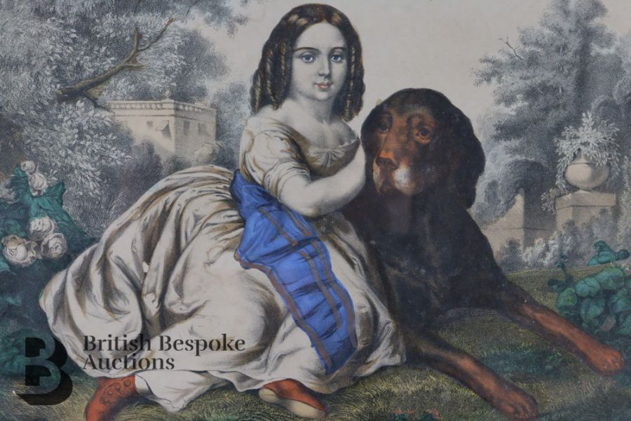 Victorian Hand Coloured Engraving - Image 2 of 3