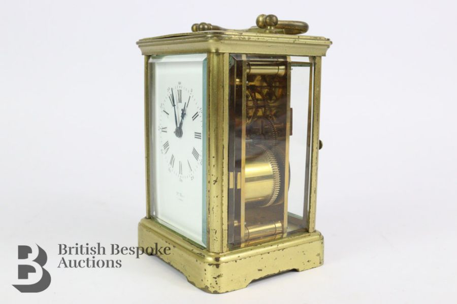 French Brass Carriage Clock - Image 2 of 5