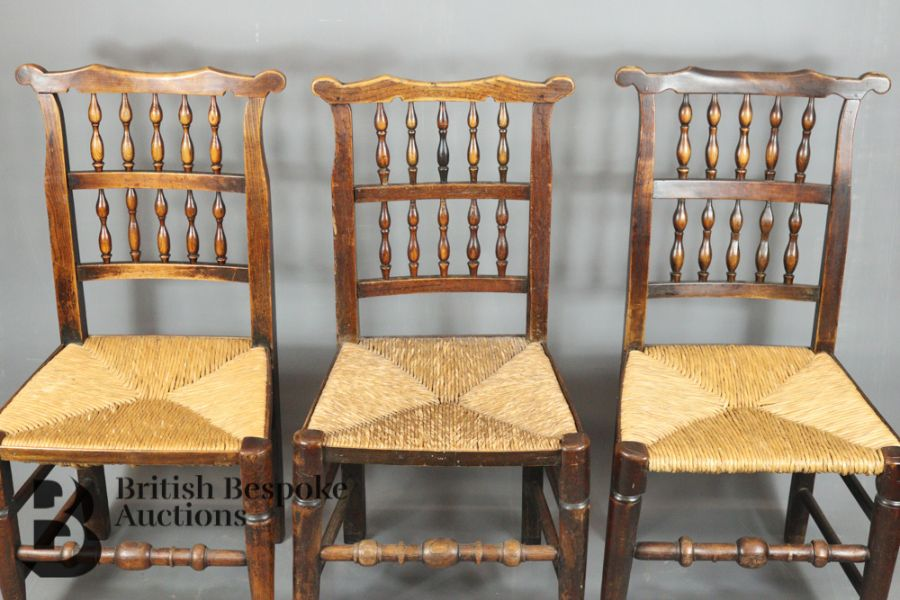 18th Century Lancashire Spindle Back Dining Chairs - Image 2 of 5
