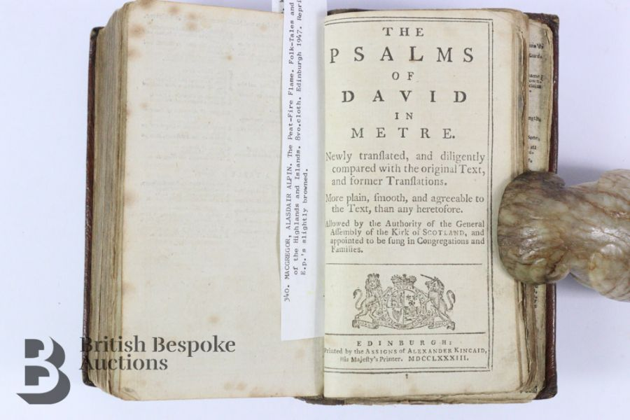 The Holy Bible Containing Old & New Testaments Published Kincaid Edinburgh 1783 - Image 4 of 5