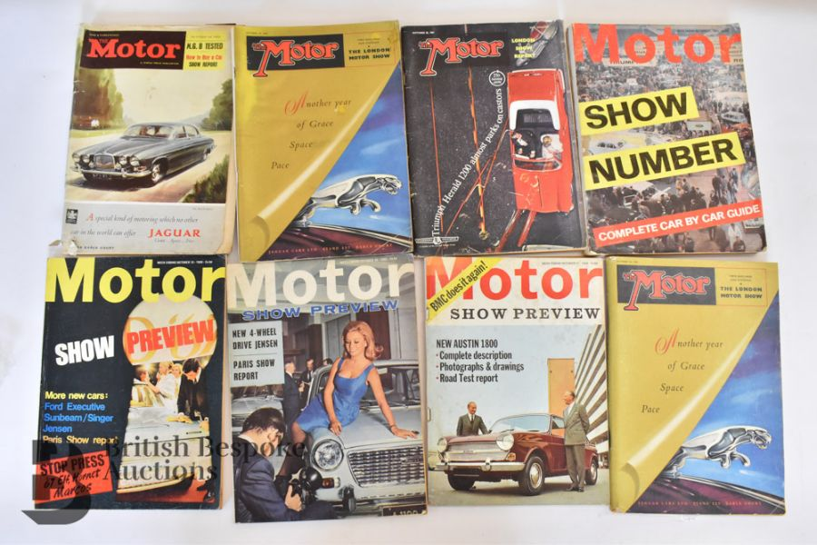 Approx. 40 Motoring Magazines 1950s-70s London Motor Show Previews - Image 6 of 10
