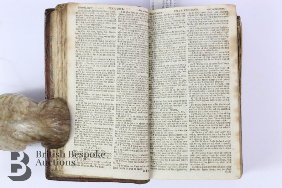 The Holy Bible Containing Old & New Testaments Published Kincaid Edinburgh 1783 - Image 3 of 5