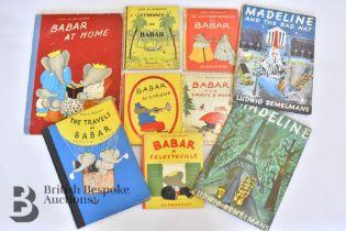 Assorted Vintage Babar and Madeline Books