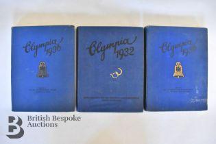 3 Albums Cigarette Photos Olympics 1932 & 1936