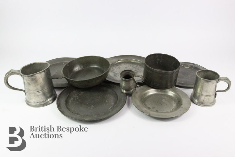 Quantity of 18th and 19th Century Pewter