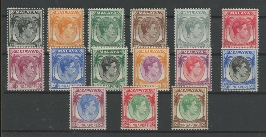 1948-52 perf 14 set Mint.