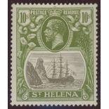 1922-37 10/- grey & olive-green Mint, fine.