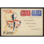 1951 Festival of Britain illustrated FDC with Battersea wavy line cancel. Printed address, fine.