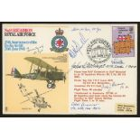 1973 RAF Berlin Airlift cover signed by 5 Battle of Britain participants. Address label, fine.