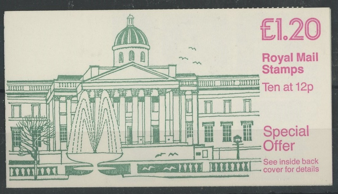 £1.20 National Gallery Cyl B10 P-(D) left margin booklet, good perfs on all sides.