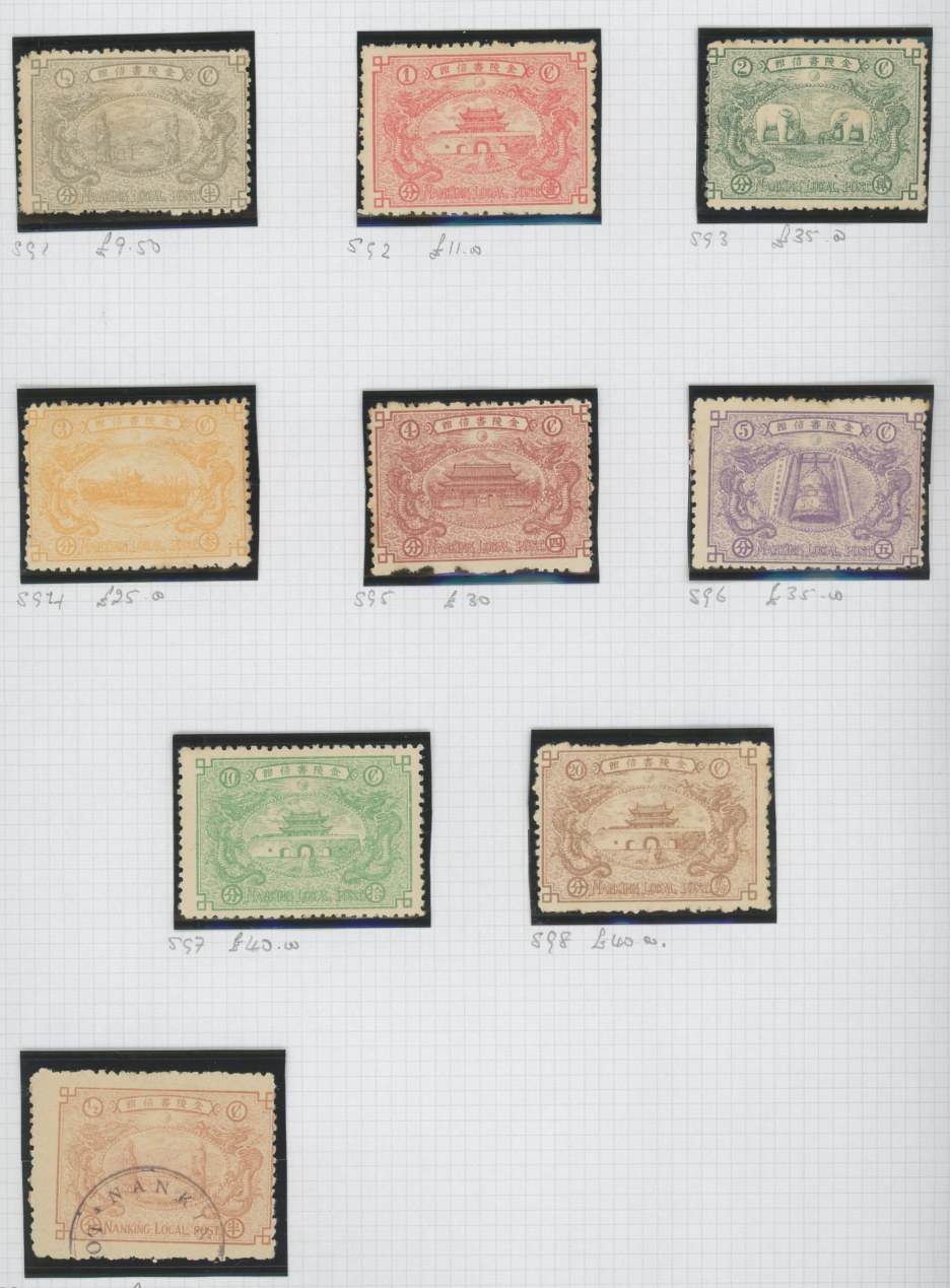 Municipal Posts - Nanking & Wei Hai Wei collection on album pages (12)