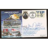 1991 Sinking of the Bismarck cover signed by Swordfish Pilot John Moffat,