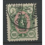 1889 5m green & red used.