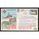 1981 Royal Star & Garter Home cover signed by Simon Weston, Lester Piggott & R.L.