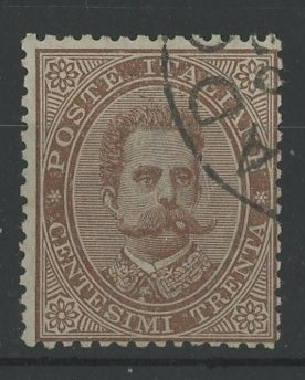 """1879-92 30c brown F/U. Cancellation looks genuine but sold """"as is""""."""