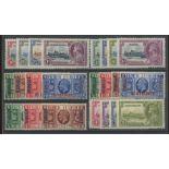 1935 Silver Jubilee Mint sets: Leeward Is, Malta, Morocco Agencies (both), Tangier & Newfoundland.