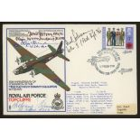 1972 RAF cover signed by 4 Luftwaffe aces (Hans Rossbach cover). Address label, fine.