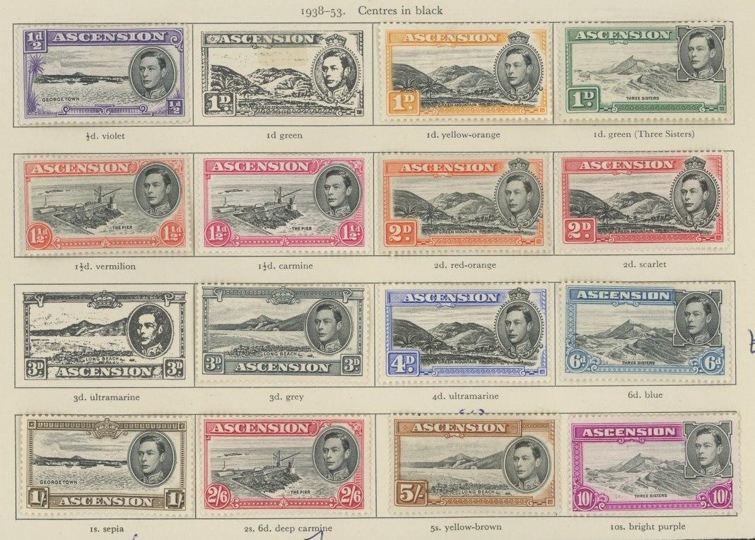 1938-53 Mint values to 2/6d, 5/- & 10/-.
