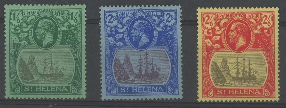 1922-37 1/6d, 2/- & 2/6d Mint, fine.