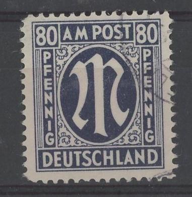 1945 80pf blue F/U, fine.
