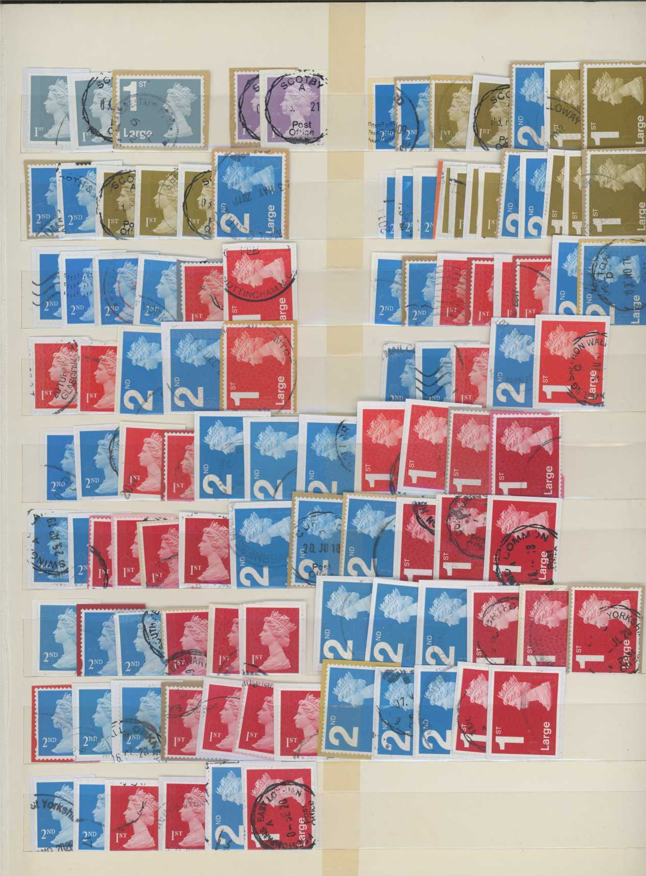 2009-2020 postally used Security Machins, nearly all F/U cds postmarks.