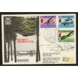 Oliver Philpot: Autographed on 1973 RAF Escaping Society cover. Address label, fine.