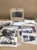 A QUANTITY OF BLACK AND WHITE PHOTOGRAPHS, MILITARY AND EARLY MOTOR VEHICLES