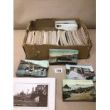 A COLLECTION OF VINTAGE POSTCARDS AND PHOTOGRAPHS, MANY OF WHICH ARE OF POINTS OF INTEREST AROUND