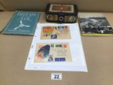 MILITARY BUTTONS, BOOKS, AND ENVELOPES