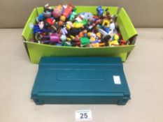VINTAGE MIXED TOYS, INCLUDES BRITAINS PLASTIC AND TRAVEL SCRABBLE