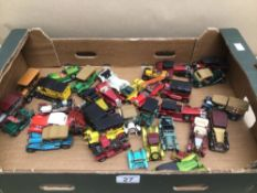 MIXED QUANTITY OF PLAY WORN DIE-CAST TOY VEHICLES MATCHBOX AND LESNEY