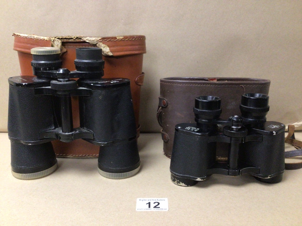 TWO PAIRS OF CASED BINOCULARS OLYMPIC 8 X 30 AND REGALE MARINE 7 X 50