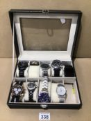 MIXED GENTS WATCHES IN CASE, UK P&P £15