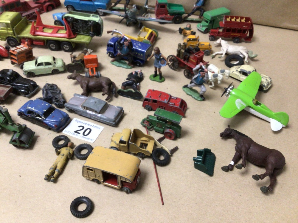 MIXED PLAY WORN DIE-CAST TOYS VEHICLES, MATCHBOX, LESNEY, AND CORGI - Image 3 of 4