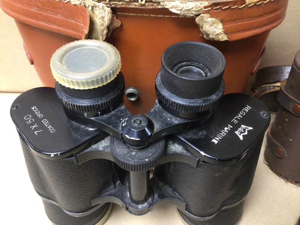 TWO PAIRS OF CASED BINOCULARS OLYMPIC 8 X 30 AND REGALE MARINE 7 X 50 - Image 3 of 3
