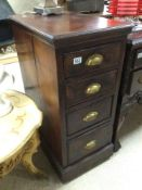 AN EARLY MAHOGANY FOUR DRAWER CABINET 89 X 60 X 41CM