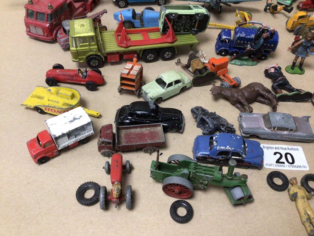 MIXED PLAY WORN DIE-CAST TOYS VEHICLES, MATCHBOX, LESNEY, AND CORGI - Image 2 of 4